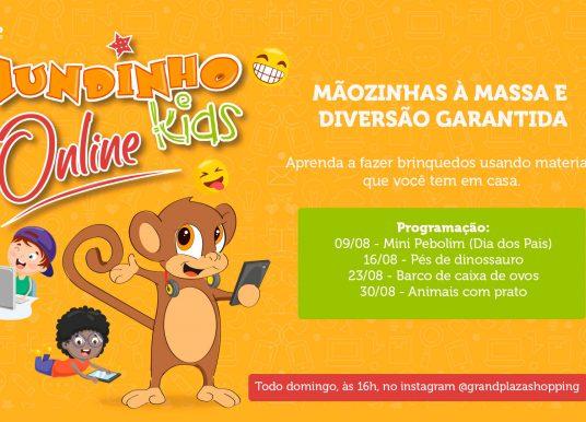 Grand Plaza Shopping realiza mais uma edição do Mundinho Kids online com oficinas criativas para o público infantil