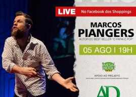 Shoppings ABC e Praça da Moça recebem Marcos Piangers para live beneficente de Dia dos Pais