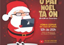 Papai Noel comemora o natal em casa de vidro no Pátio Cianê Shopping